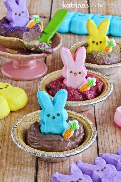 peeps pudding pops smores pies + 25 Easter Crafts for Kids - Fun-filled Easter activities for you and your child to do together!
