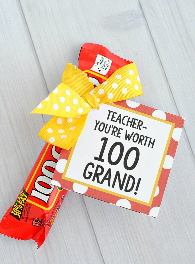 Teacher Candy Bars + 25 Handmade Gift Ideas for Teacher Appreciation – the perfect way to let those special teachers know how important they are in the lives of your children!