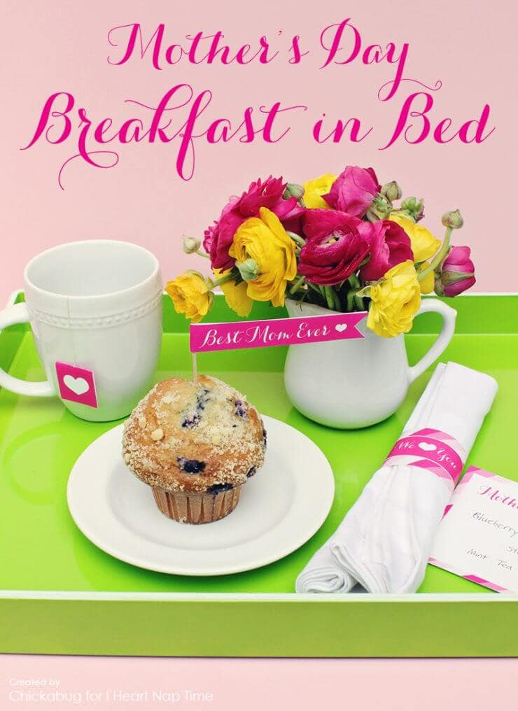 Mother's Day Breakfast in Bed Printables + 25 Free Mother's Day Printables - Beautiful and easy gift ideas to honor the women who make the world go round!