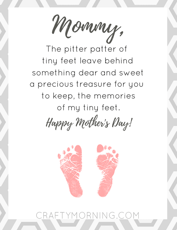Mother's Day Pitter Pat Free Printable + 25 Free Mother's Day Printables - Beautiful and easy gift ideas to honor the women who make the world go round!