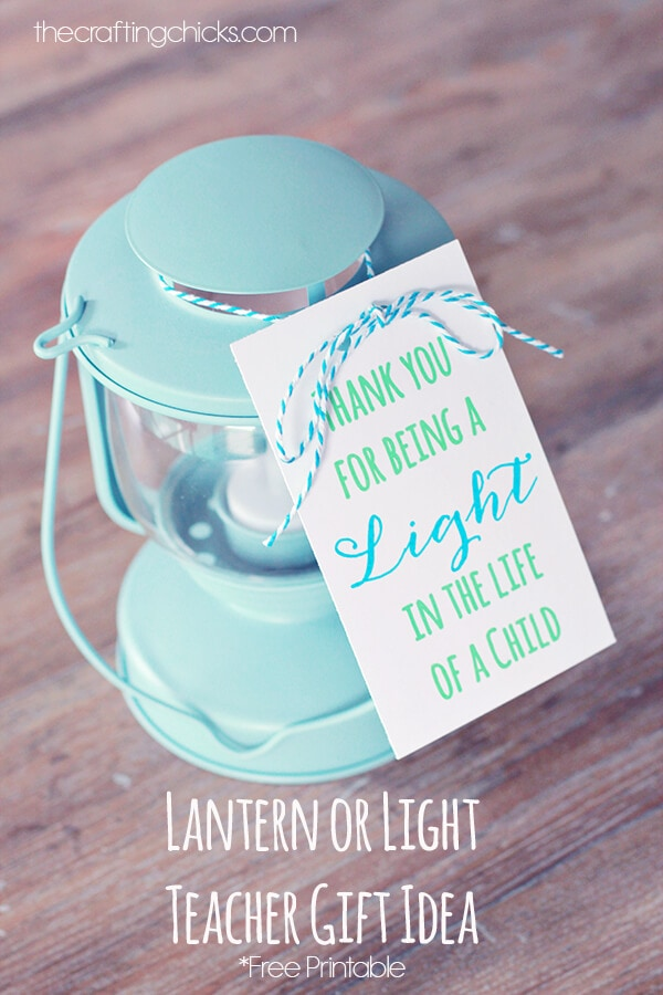 Teacher Appreciation Lantern + 25 Handmade Gift Ideas for Teacher Appreciation - the perfect way to let those special teachers know how important they are in the lives of your children!