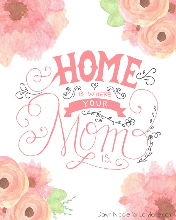 Mother's Day Cards Printable + 25 Free Mother's Day Printables – Beautiful and easy gift ideas to honor the women who make the world go round!