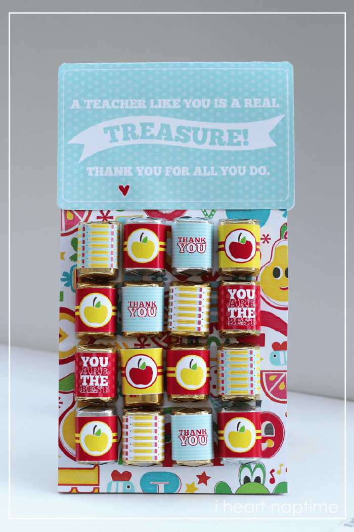 Teachers Are Treasures + 25 Handmade Gift Ideas for Teacher Appreciation - the perfect way to let those special teachers know how important they are in the lives of your children!