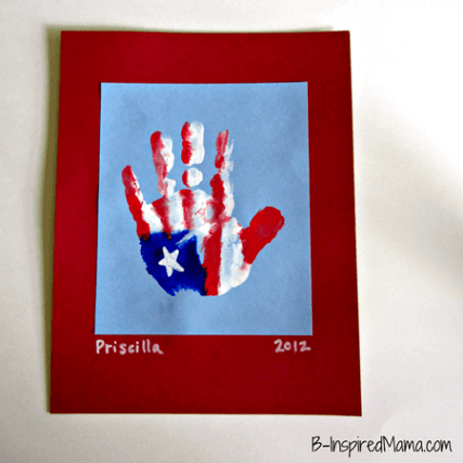 Patriotic Hand Print American Flag + 50 Festive Memorial Day BBQ Ideas...creative ways to kick-off summer and celebrate our freedom while remembering our fallen heroes!