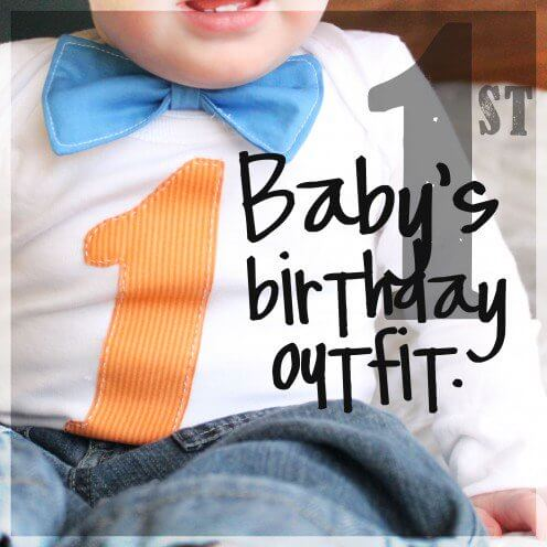 Baby Boy's First Birthday Outfit + DIY First Birthday Shirt and Party Hat - plus 15 other birthday outfit ideas to make your little one unbelievably adorable on the Big Day!