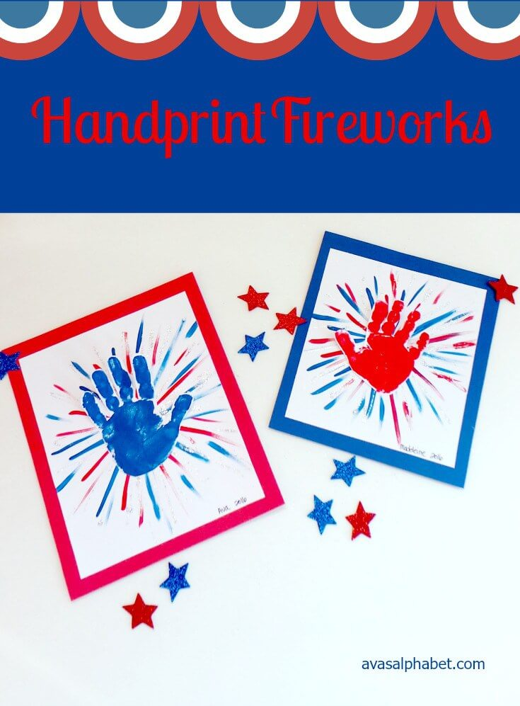 Handprint Fireworks + 50 Festive Memorial Day BBQ Ideas...creative ways to kick-off summer and celebrate our freedom while remembering our fallen heroes!