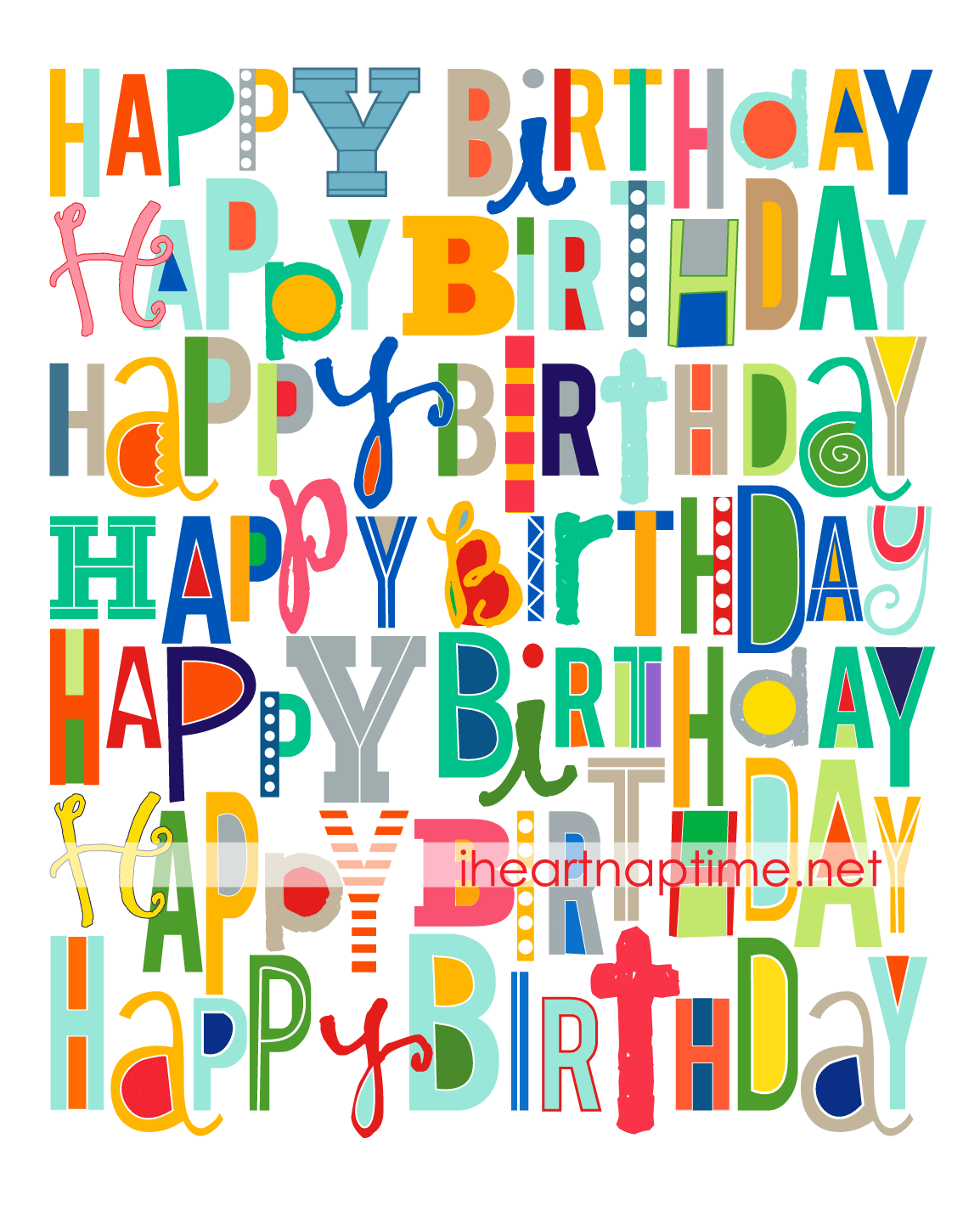 print this happy birthday