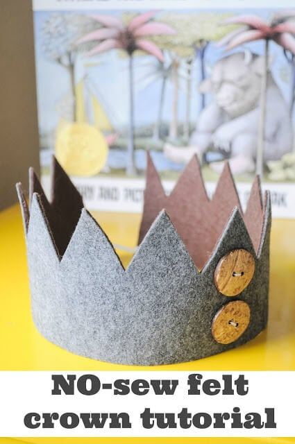 No Sew Felt Crown Tutorial + DIY First Birthday Shirt and Party Hat - plus 15 other birthday outfit ideas to make your little one unbelievably adorable on the Big Day!