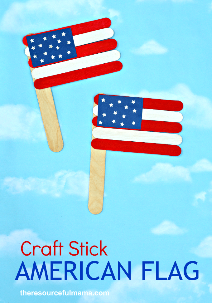 Patriotic Craft Stick American Flag + 50 Festive Memorial Day BBQ Ideas...creative ways to kick-off summer and celebrate our freedom while remembering our fallen heroes!