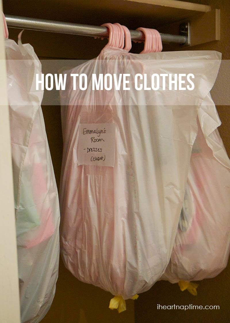 how to move clothes on hangers