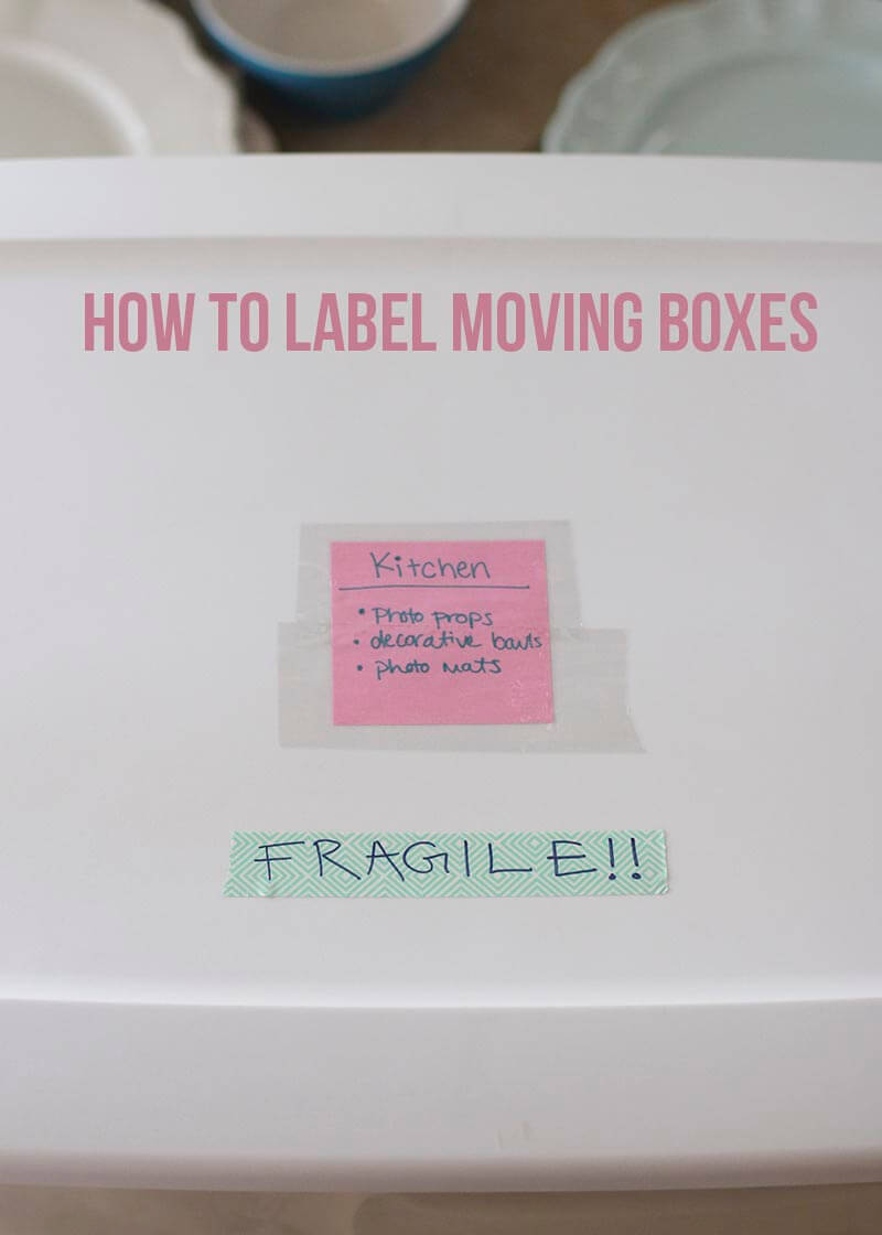 labeling moving boxes