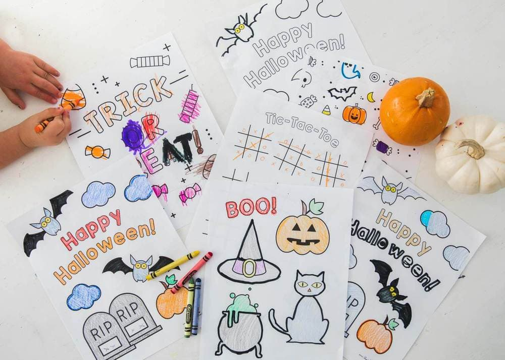Halloween Coloring Pages - Doodle Art Alley | 714x1000