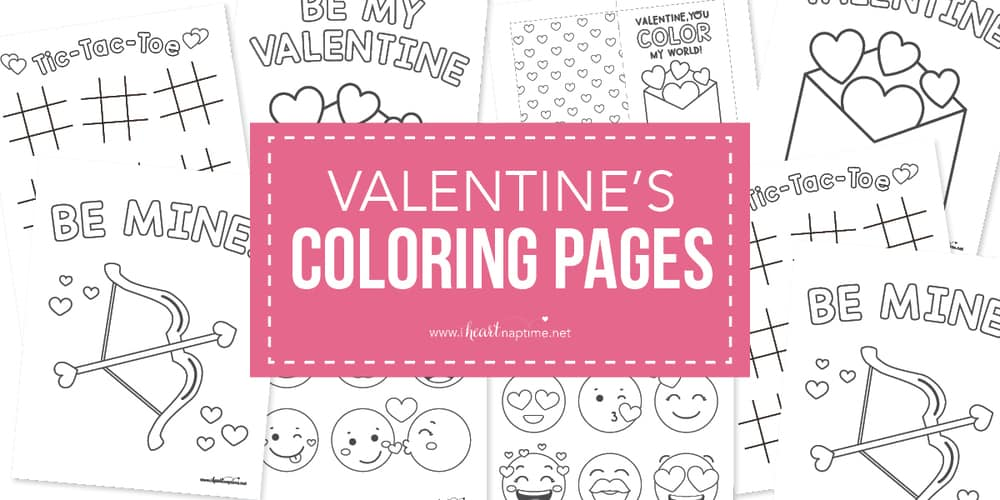 543 Free, Printable Valentine's Day Coloring Pages | 500x1000