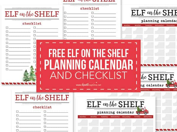 elf on the shelf calendar and checklist