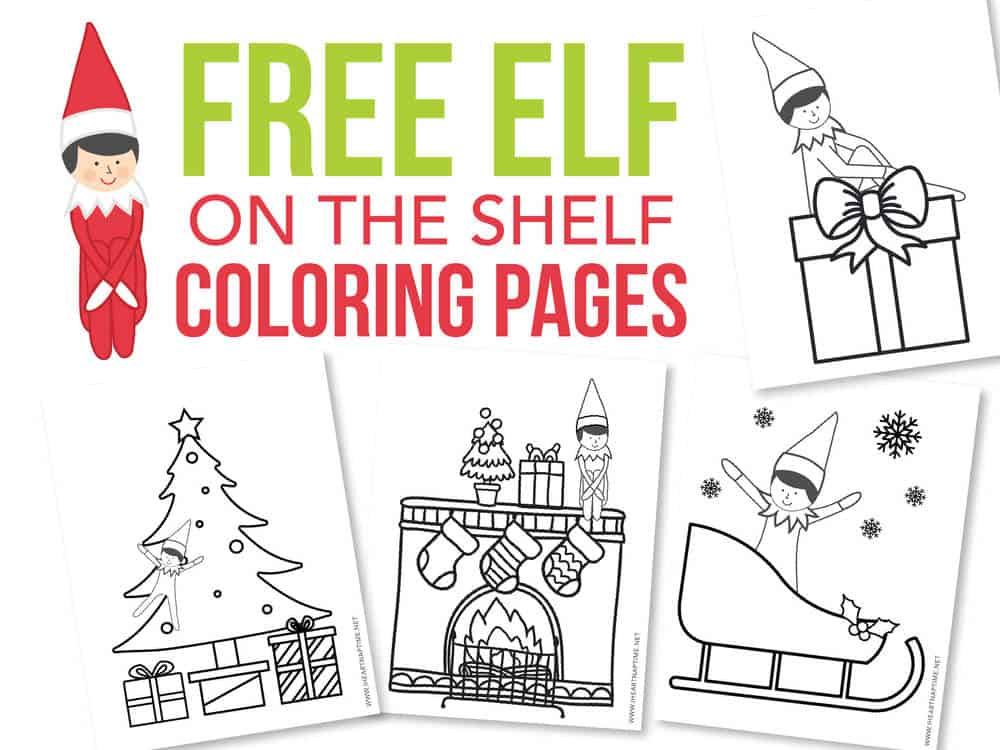 FREE Elf On The Shelf Coloring Pages - The Inspiration Board