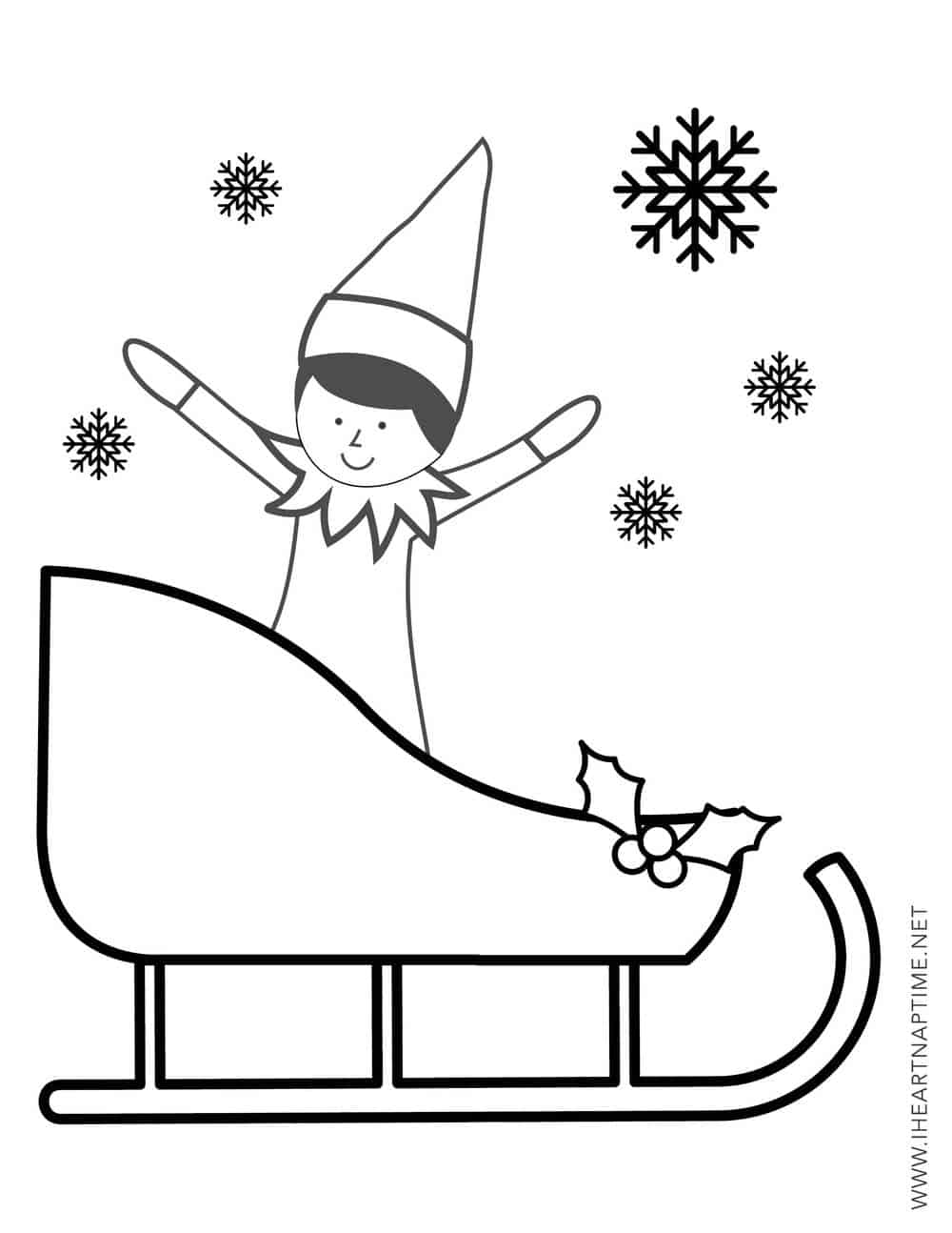 Christmas Elf on Shelf coloring page from Elf on the Shelf ... | 1294x1000