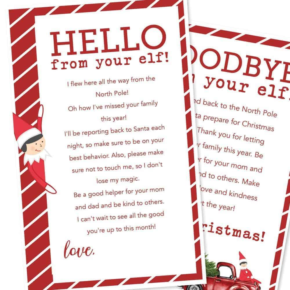 Free Printable Elf On The Shelf Letters I Heart Naptime