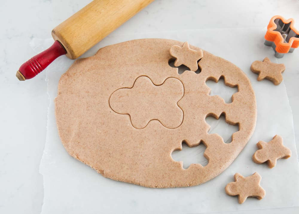 rolled out gingerbread playdough