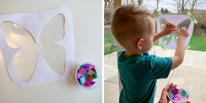 making butterfly kids craft