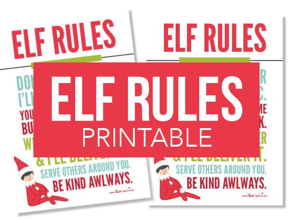 elf rules print