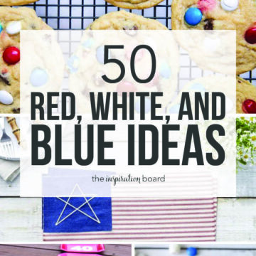 collage of red, white, and blue ideas