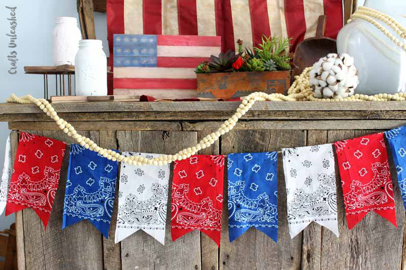 Red, white and blue bandana banner