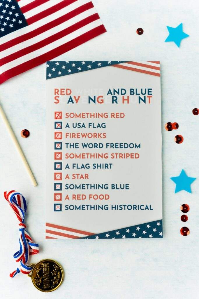 Red, White, and Blue Scavenger Hunt