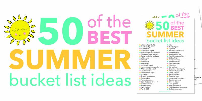 summer bucket list collage