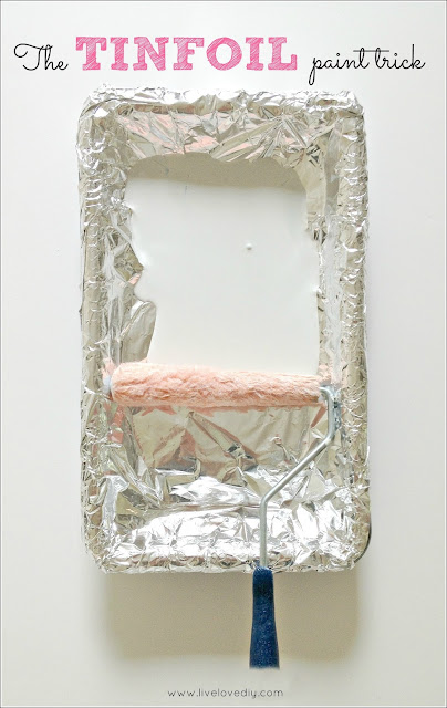 Tinfoil on a paint tray