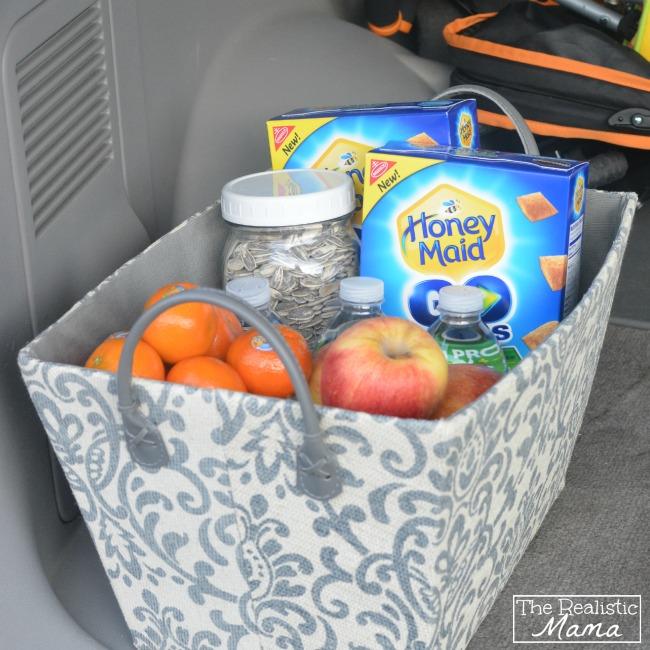 Travel snack basket
