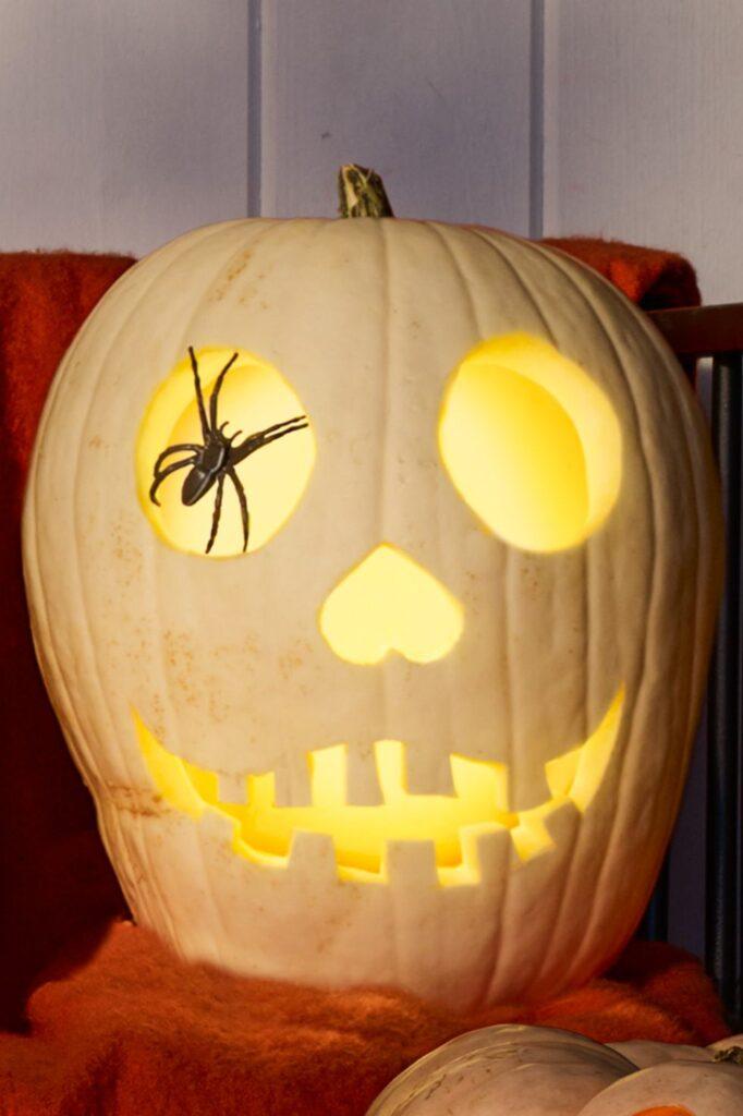 Spider Eye Pumpkin Carving Idea