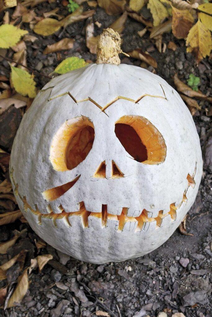 Frankenskull Pumpkin Carving Idea