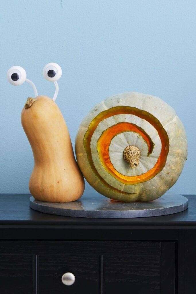 Snail Pumpkin carving Idea